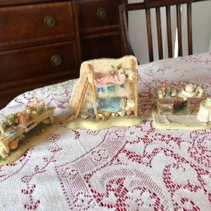 Brambly Hedge Charpente. 3 pieces. Reserved